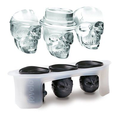 Mold Bar Skull Shape Ice Cube Party Silicone Tray Gift Chocolate Drinks Maker