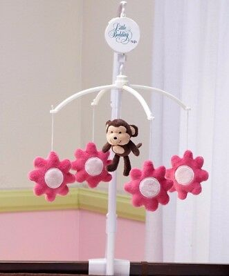 Little Bedding: Newborn Girl's Raspberry Jungle Musical Mobile by NoJo