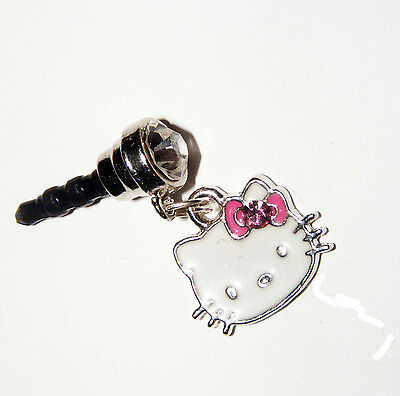 eaa0a4b0b HELLO KITTY BLUE cell phone Charm Dust proof Plug ear jack Fits ...
