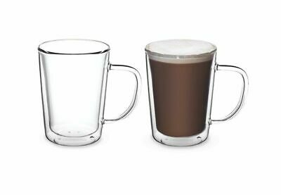 6 pk Glass Cup Glasses Mug Hot Cold Drink Coffee Latte tea Heat Resistant 255ml