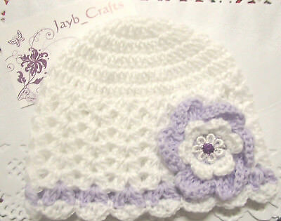 Handmade Crochet Baby Hat in Patons 4 ply baby yarn FH305