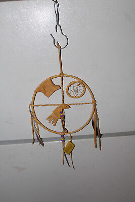 AUTHENTIC NATIVE AMERICAN MEDICINE WHEEL BY NAVAJO ARTIST T. LEE **With COA**