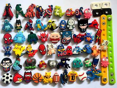 Lot of 55 PVC Different Shoe Charms for Croc & Jibbitz Bands Bracelet for Boys