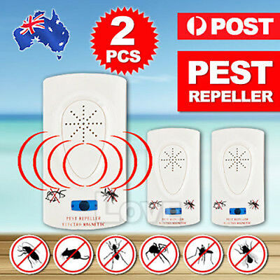 2x Electronic Ultrasonic Anti Pest Cockroach Bug Mosquito Mouse Killer Repeller