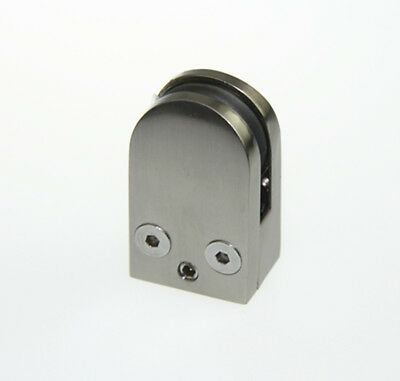 Stainless Steel Glass Clamp Clips Bracket for Handrails Balustrades 8-10mm glass