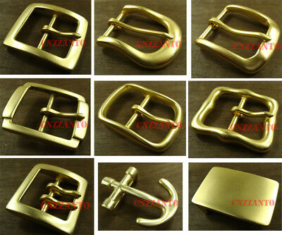 Solid brass Classical belt buckle buckles Tongue Pin plate for 38mm width belt