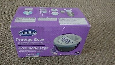 Disposable Carebag Super Absorption Commode Liners - box of 20