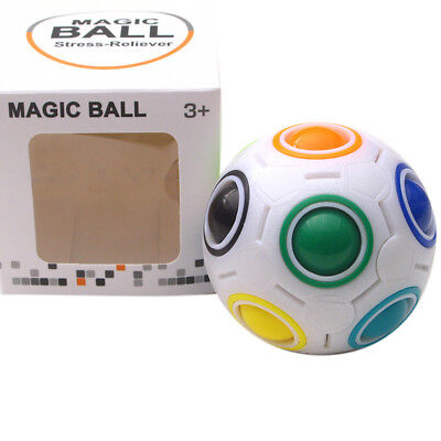 New Stress Reliever Rainbow Magic Ball Plastic Cube Twist Puzzle Education Toys