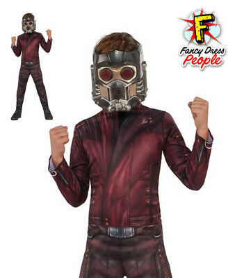 Boys Star Lord Guardians of The Galaxy 2 Costume Superhero Fancy Dress Outfit
