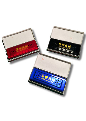 New Swan 16 Holes Harmonica Mouth Double Sided Key C&G Tremolo Tuned With Box UK