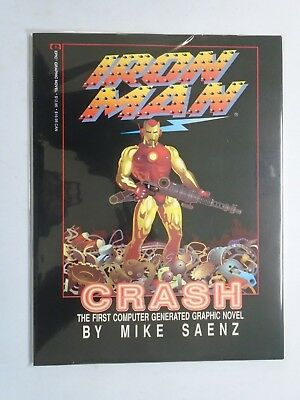 """Iron Man Crash GN #1, NM (1988) """"The First Computer Generated Graphic Novel!"""""""