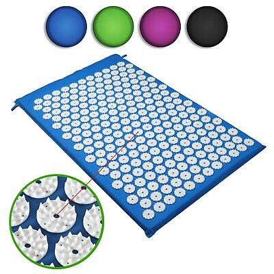 Acupressure Massage Mat Yoga Relax Pain Relief Muscle Tension Back Neck Massager