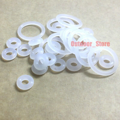 20pcs Translucent Food Grade Silicone O-Ring Sealing ring ( Line diameter:2.4mm)