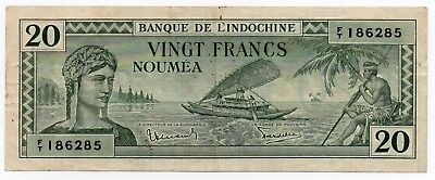 New Caledonia - 20 francs 1944, P 49, Noumea, Indochine