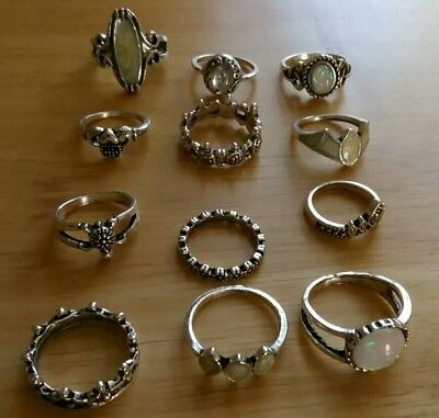 Job lot of 12 fashion rings