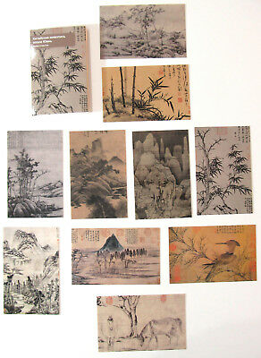 CHINESE ART YUAN 元朝 Post Cards in Folder 王蒙 倪瓒 吴镇 黃公望 China LOT of 10 pcs