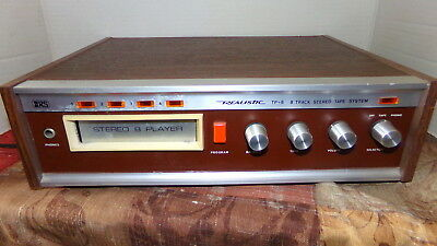 Realistic 44-923 Model TP-8 8-Track Tape Player Stereo Tested and Working