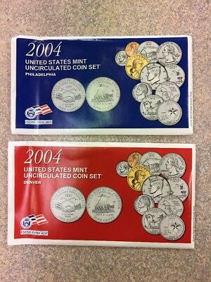2004 P & D United States Mint Uncirculated Coin Set