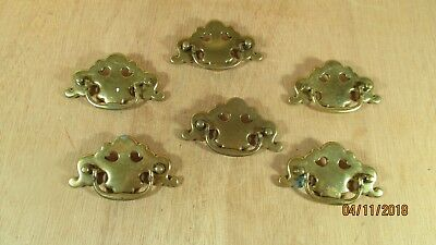 Lot 6 Ornate Vintage Brass Drawer Pulls Furniture Restoration CP 2345 Canada