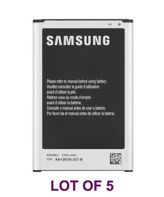5 Samsung B800BU OEM Battery Lot 3200mAh Galaxy Note III 3 N900R4 N9005 New