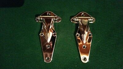 "KASON CHROME HINGE REACH IN  -NEW (set of 2) #1070-174-54 w/ 1/4"" offset"