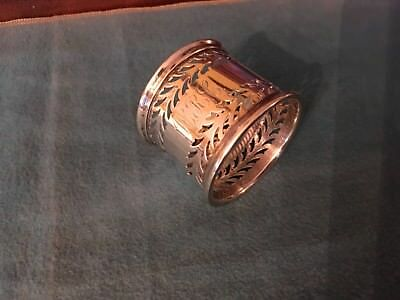 Rare Antique Dominick & Haff Sterling Silver Reticulated Napkin Ring