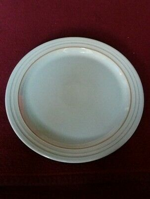 Denby Terrace Dinner Plate 10.75 Inches In Blue/Brown Rings