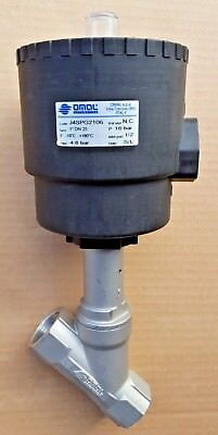 """Omal Angle Seat Valve 1"""" PORTS DN90 ACTUATOR J4SPG2106 Stainless Steel"""