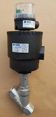 """Omal Angle Seat Valve 1"""" PORTS DN90 ACTUATOR J4SPG2106 with Limit Switch box"""