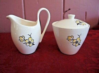 Marcrest Stetson Dixie Dogwood Sugar Bowl And Creamer