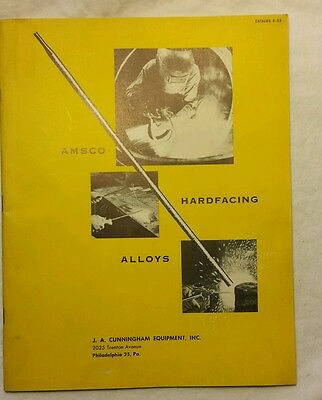 VINTAGE AMSCO WELDING HARDFACING ALLOYS CATALOG 9 1953 Am. Manganese Steel Div.