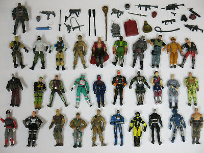 Huge Lot of G.I. Joe Vintage and Modern Action Figures & Accessories! 59 Pieces!