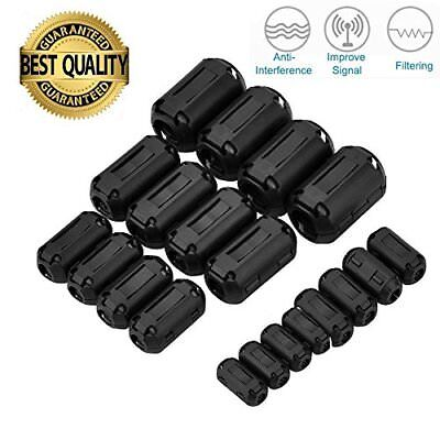 20Pcs Clip-on Ferrite Ring Core RFI EMI Noise Suppressor Cable Clip 3mm 5mm 7mm