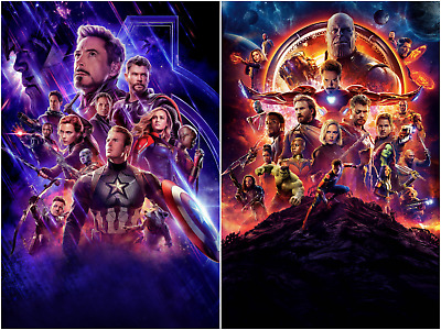 Avengers End Game Infinity War Movie Textless Posters HQ Art Print 27×40 48×32""