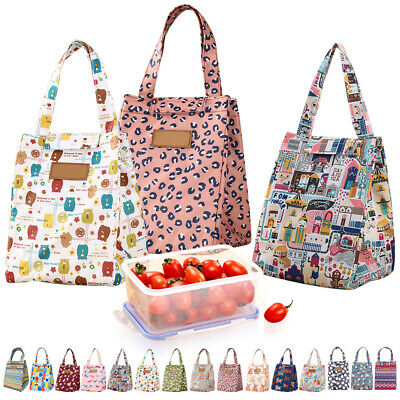 Cute Women Ladies Girls Kids Portable Insulated Lunch Bag Box Picnic Tote Cooler