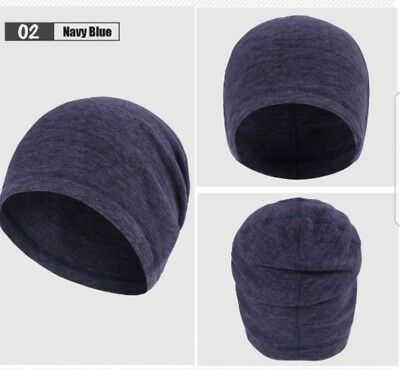 Thermal/fleece running hat for Autumn/winter mens/womens blue one size 53-60cm
