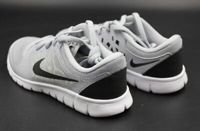 0222a25e4f08 New Nike Kids Flex 2015 Rb Wolf Grey Black White Running Shoes Multi Size