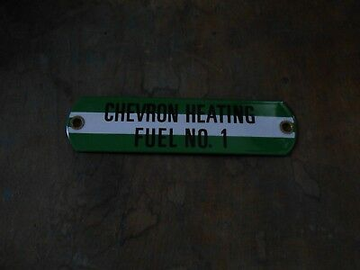 Cheveron Porcelian Gas / Heating Oil Sign New Old Stock