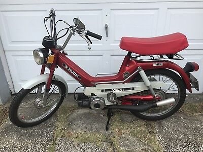 VINTAGE RED 1977 Puch Maxi Moped Bike Red Scooter