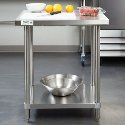"24"" x 30"" Stainless Steel NSF Commercial Kitchen Work Table with Undershelf"