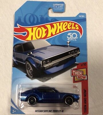 Nissan Skyline 2000 GTR Hot Wheels Rare Blue 2018 Then And Now JDM 1:64 C210 82