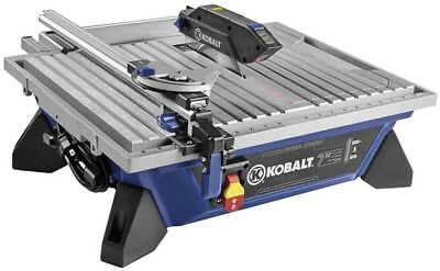 Kobalt 7 In Wet Dry Tabletop Tile Saw Iamond Blade Cutter 4 10 Stand New