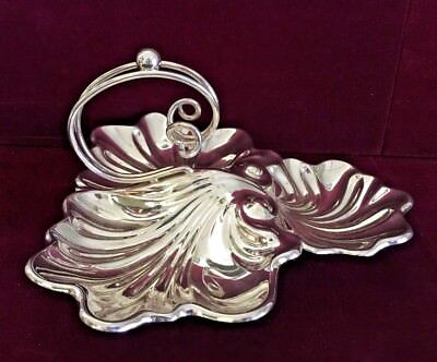 Antique English Silver Plated Candy Dish by Charles Truman Burrows & Son
