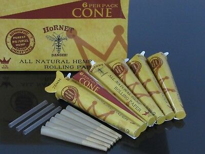 78mm 1 1/4 Size 6 Pack 36 CONE AUTHENTIC Rolling Paper Pre Rolled Cones