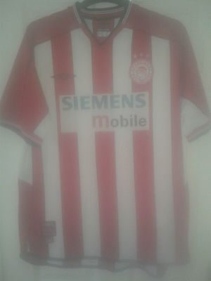Mens Football Shirt - Olympiacos Olympiakos - Greece - Home 2002-03 - Umbro - XL