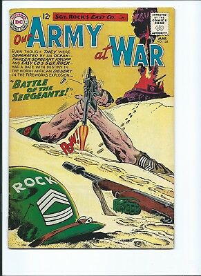 Our Army At War 128 - Vg- 3.5 - Origin Of Sgt. Rock - Easy Company (1963)