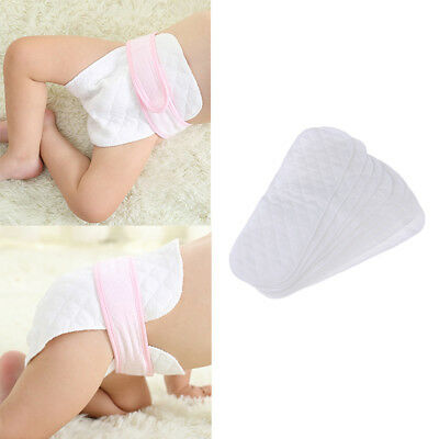 10Pcs REUSABLE BABY KIDS MODERN CLOTH DIAPER NAPPY LINER INSERTS 3 LAYERS COTTON