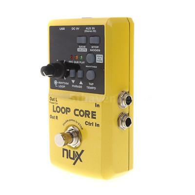 Hot NUX Loop Core Guitar Electric Effect Pedal 6h Recording Time Yellow New V6T3
