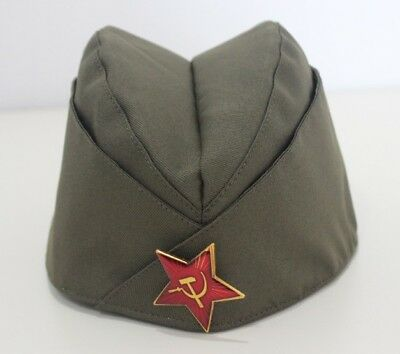 Pilotka Soviet Army Garrison Cap With A Red Asterisk Soviet Soldier Russian Hats