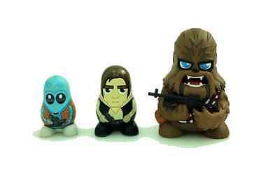 STAR WARS Chubby Stackable Characters Chewbacca Set mit Han Solo Neu & Ovp